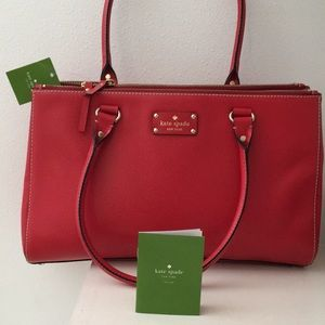 Kate Spade Red Leather Tote / shoulder bag (NWT)